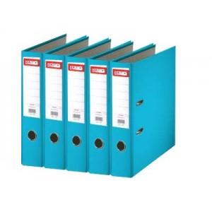 Biblioraft plastifiat de 7.5 cm, turcoaz, A4, ALPHALINE - ACOMI.ro