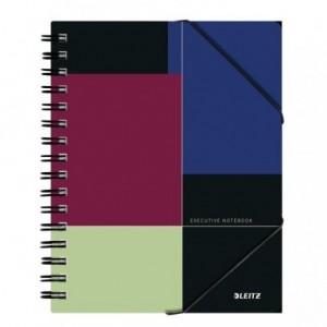 Caiet de birou LEITZ Executive Be Mobile, PP A5, cu spira, dictando - negru/violet - ACOMI.ro