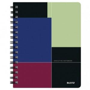 Caiet de birou LEITZ Executive, PP, A5, cu spira, matematica - negru/violet - ACOMI.ro