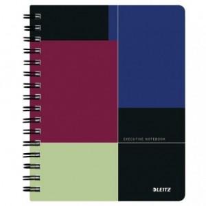 Caiet de birou LEITZ Executive, PP, A5, cu spira, dictando - negru/violet - ACOMI.ro
