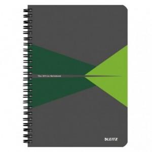 Caiet de birou LEITZ Office, carton, A5, cu spira, matematica - verde - ACOMI.ro