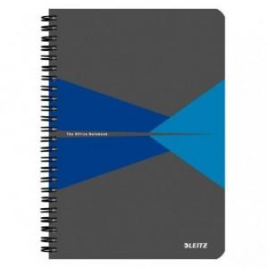 Caiet de birou LEITZ Office, carton, A5, cu spira, dictando - albastru - ACOMI.ro