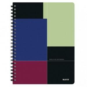 Caiet de birou LEITZ Executive, PP, A4, cu spira, matematica - negru/violet - ACOMI.ro