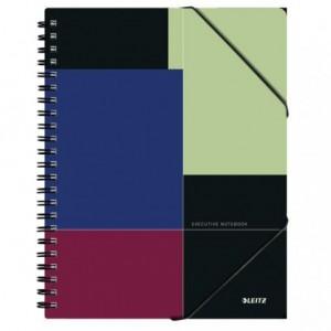 Caiet de birou LEITZ Executive Be Mobile, PP A4, cu spira, matematica - negru/violet - ACOMI.ro