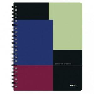 Caiet de birou LEITZ Executive Get Organized, PP, A4, cu spira matematica - negru/violet - ACOMI.ro