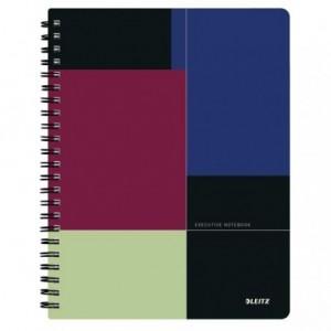 Caiet de birou LEITZ Executive Get Organized, PP, A4, cu spira dictando - negru/violet - ACOMI.ro