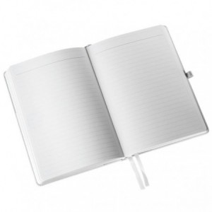 Caiet de birou LEITZ Style, A5, coperta dura, dictando, hartie crem - fistic - ACOMI.ro