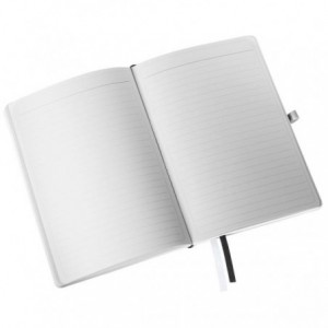 Caiet de birou A5, LEITZ Style, coperti flexibile - alb arctic, hartie crem - dictando - ACOMI.ro