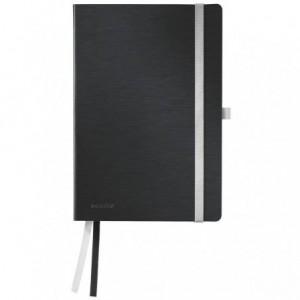 Caiet de birou A5, LEITZ Style, coperti flexibile - negru satin, hartie crem - dictando - ACOMI.ro