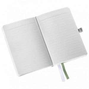 Caiet de birou A6, LEITZ Style, coperti flexibile - alb arctic, hartie crem - dictando - ACOMI.ro
