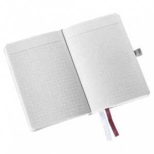 Caiet de birou A6, LEITZ Style, coperti flexibile - alb arctic, hartie crem - matematica - ACOMI.ro