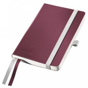 Caiet de birou A6, LEITZ Style, coperti flexibile - grena, hartie crem - matematica - ACOMI.ro