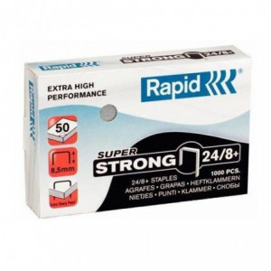 Capse 24/8 RAPID Super Strong, 1000 buc/cutie