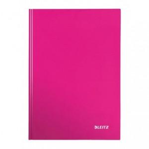 Caiet de birou LEITZ Wow, A4, coperta dura, dictando - roz metalizat - ACOMI.ro