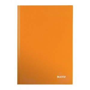 Caiet de birou LEITZ Wow, A4, coperta dura, matematica - portocaliu metalizat - ACOMI.ro
