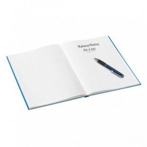 Caiet de birou LEITZ Wow, A5, coperta dura, dictando - albastru metalizat - ACOMI.ro