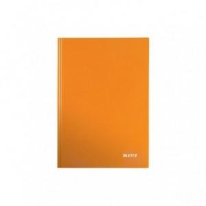 Caiet de birou LEITZ Wow, A5, coperta dura, matematica - portocaliu metalizat - ACOMI.ro