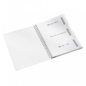Caiet de birou LEITZ Wow Get Organized, PP, A4, matematica - roz metalizat - ACOMI.ro