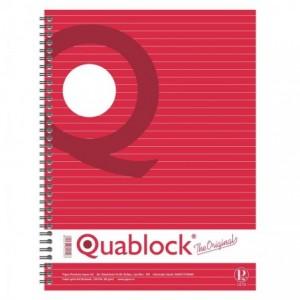 Caiet cu spira A4, 120 file, matematica, Quabloc PIGNA - ACOMI.ro