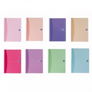 Caiet de birou cu spira, A4, 90 file, dictando, Woman Soft Colours  OXFORD - ACOMI.ro