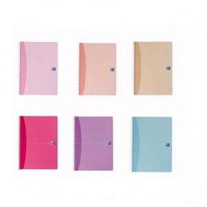 Caiet de birou cu spira, A5, 90 file, matematica, Woman Soft Colours  OXFORD - ACOMI.ro