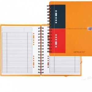 Caiet de birou cu spira, A5+, 80 file, dictando, Meetingbook OXFORD - ACOMI.ro