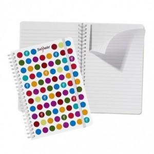 Caiet de birou cu spira, A5, 70 file, dictando, cu elastic Dots  Snopake - ACOMI.ro