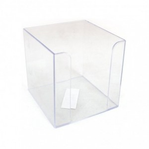 Suport cub de hartie transparent, 9x9x9cm, Ark - ACOMI.ro