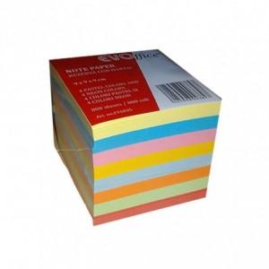 Cub hartie color 80 g, 800 file (4 culori pastel + 4 culori neon), 9x9cm, ACM BRAND - ACOMI.ro