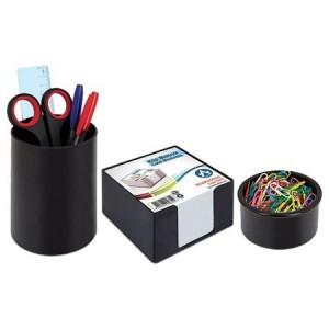 Set birou cu suport pentru instrumente de scris, agrafe, cub si hartie ARK - ACOMI.ro
