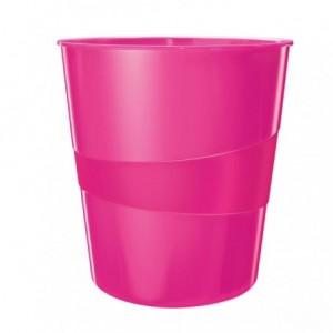 Cos de birou 15L roz metalizat, LEITZ WOW - ACOMI.ro