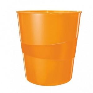 Cos de birou 15L portocaliu metalizat, LEITZ WOW - ACOMI.ro