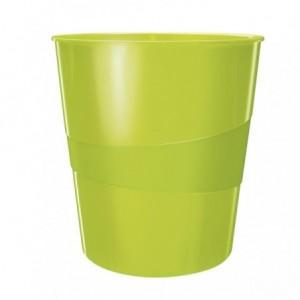 Cos de birou 15L verde metalizat, LEITZ WOW - ACOMI.ro
