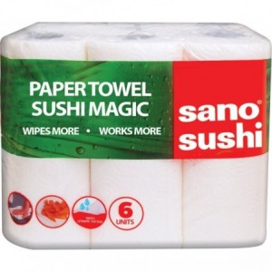 Prosop de hartie, 6 buc/set, 2 straturi, SANO PAPER TOWEL SUSHI MAGIC - ACOMI.ro