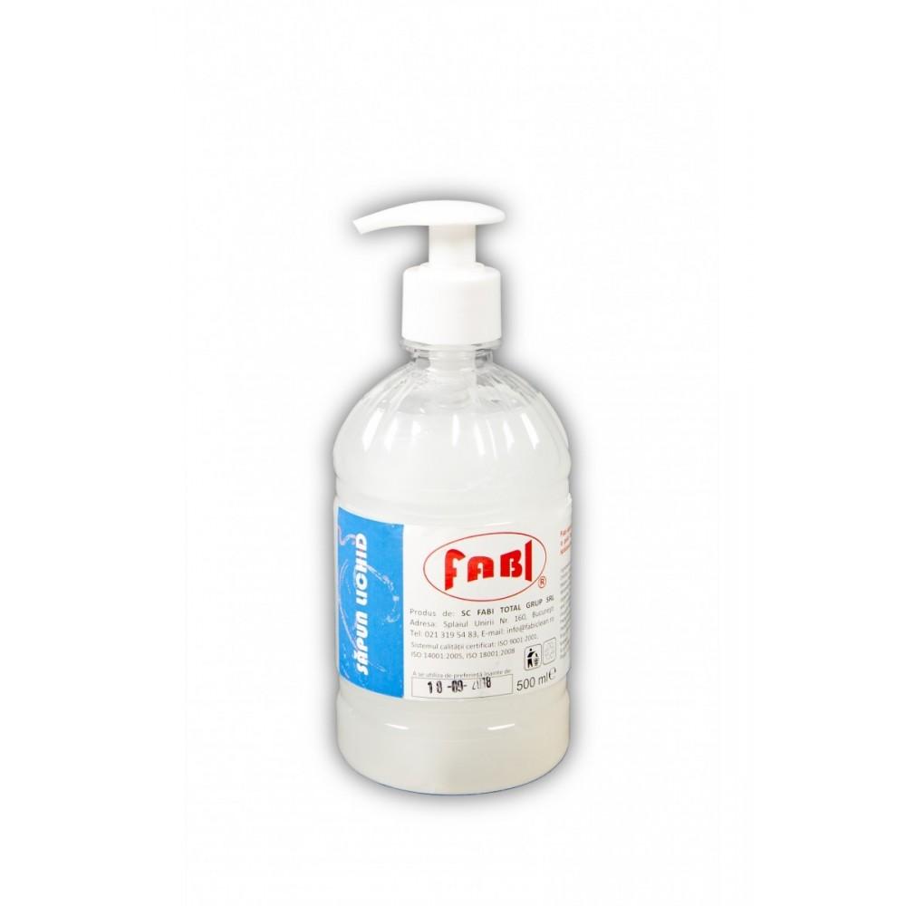 Sapun lichid alb 500ml cu pompita, Fabi ECO - ACOMI.ro