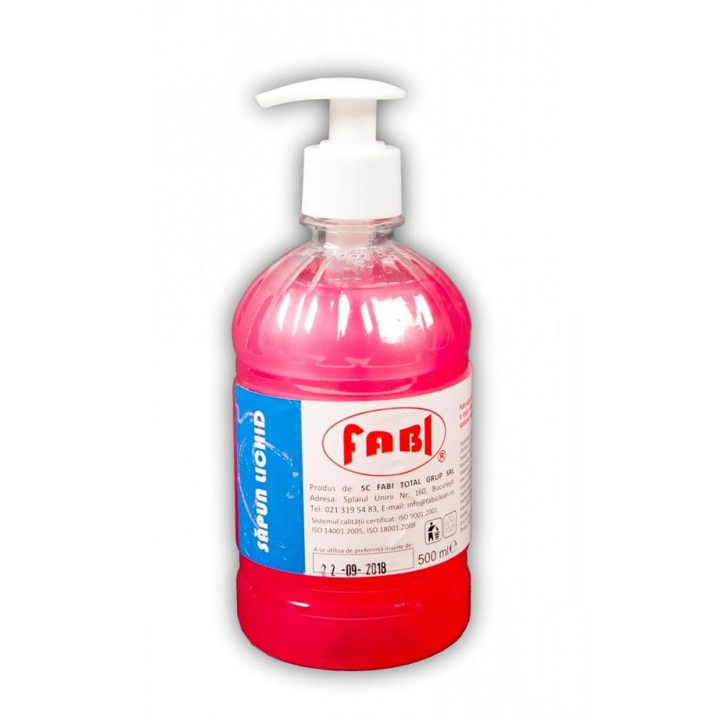 Sapun lichid 500ml cu pompita roz, Fabi ECO - ACOMI.ro