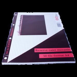 Rezerva caiet mecanic A4 50 file/set matematica EVOffice - ACOMI.ro