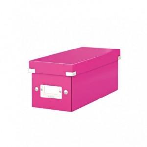Cutie pentru CD-uri, roz, LEITZ Click & Store - ACOMI.ro