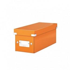 Cutie pentru CD-uri, portocaliu, LEITZ Click & Store - ACOMI.ro
