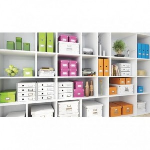 Suport pentru documente cu 3 sertare, portocaliu, LEITZ Click & Store - ACOMI.ro