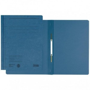 Dosar din carton, cu sina, 250 g/mp, albastru, LEITZ - ACOMI.ro
