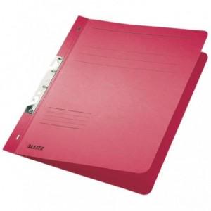 Dosar din carton, incopciat 1/1, 250 g/mp, rosu, LEITZ - ACOMI.ro