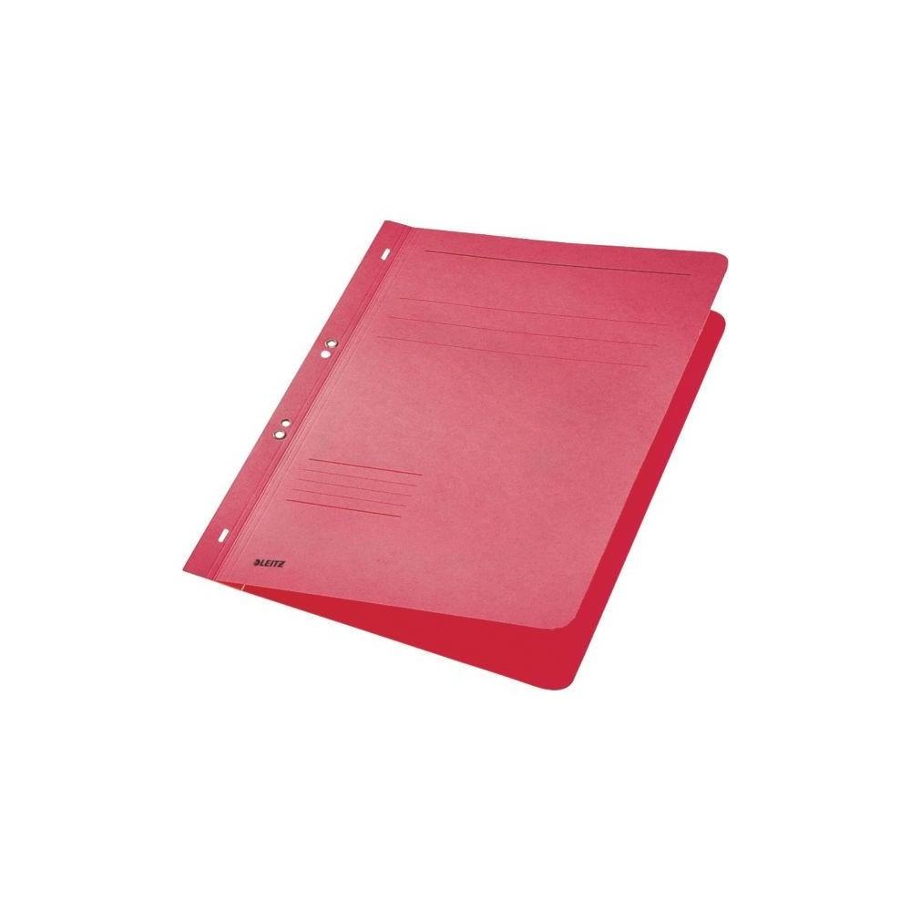 Dosar din carton, cu capse 1/1, 250 g/mp, rosu, LEITZ - ACOMI.ro