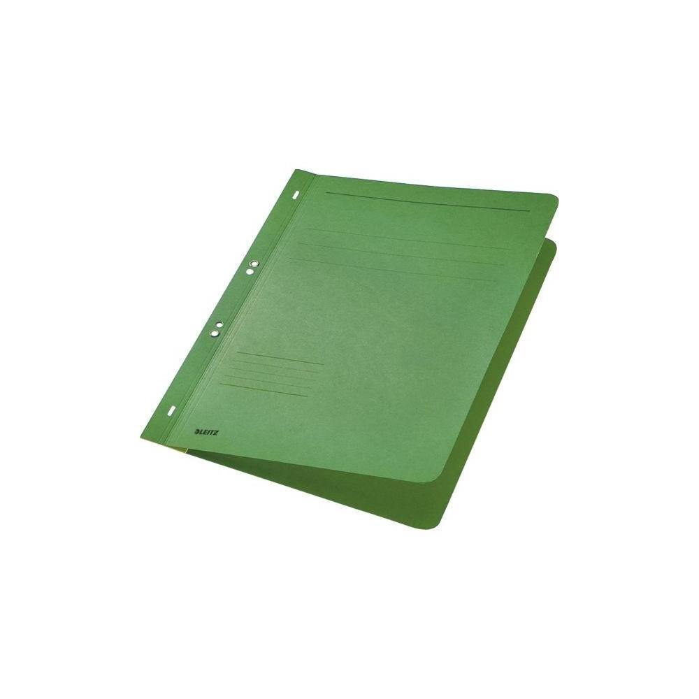 Dosar din carton, cu capse 1/1, 250 g/mp, verde, LEITZ - ACOMI.ro