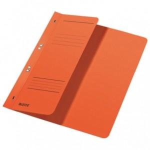 Dosar din carton, cu capse 1/2, 250 g/mp, portocaliu, LEITZ - ACOMI.ro
