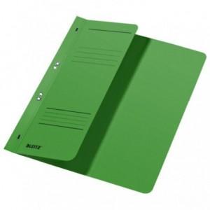 Dosar din carton, cu capse 1/2, 250 g/mp, verde, LEITZ - ACOMI.ro
