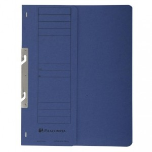 Dosar carton incopciat 1/2, 250 gr/mp, albastru, Exacompta - ACOMI.ro