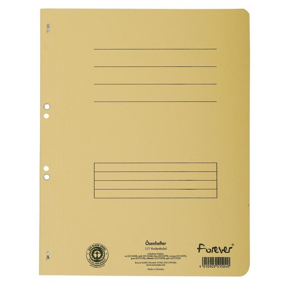 Dosar carton capse 1/1, 250 gr/mp, galben, Exacompta - ACOMI.ro