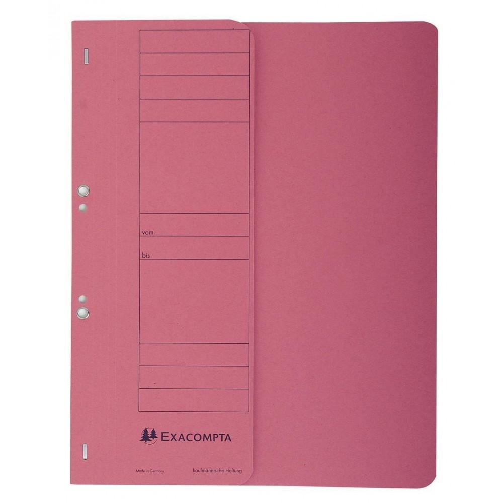 Dosar carton capse 1/2, 250 gr/mp, rosu, Exacompta - ACOMI.ro