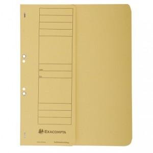 Dosar carton capse 1/2, 250 gr/mp, galben, Exacompta - ACOMI.ro